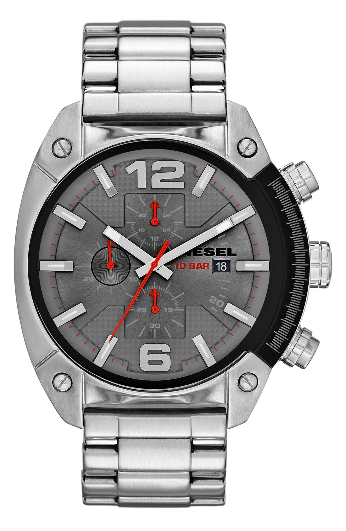 Alternate Image 1 Selected - DIESEL® 'Overflow' Chronograph Bracelet Watch, 46mm x 49mm