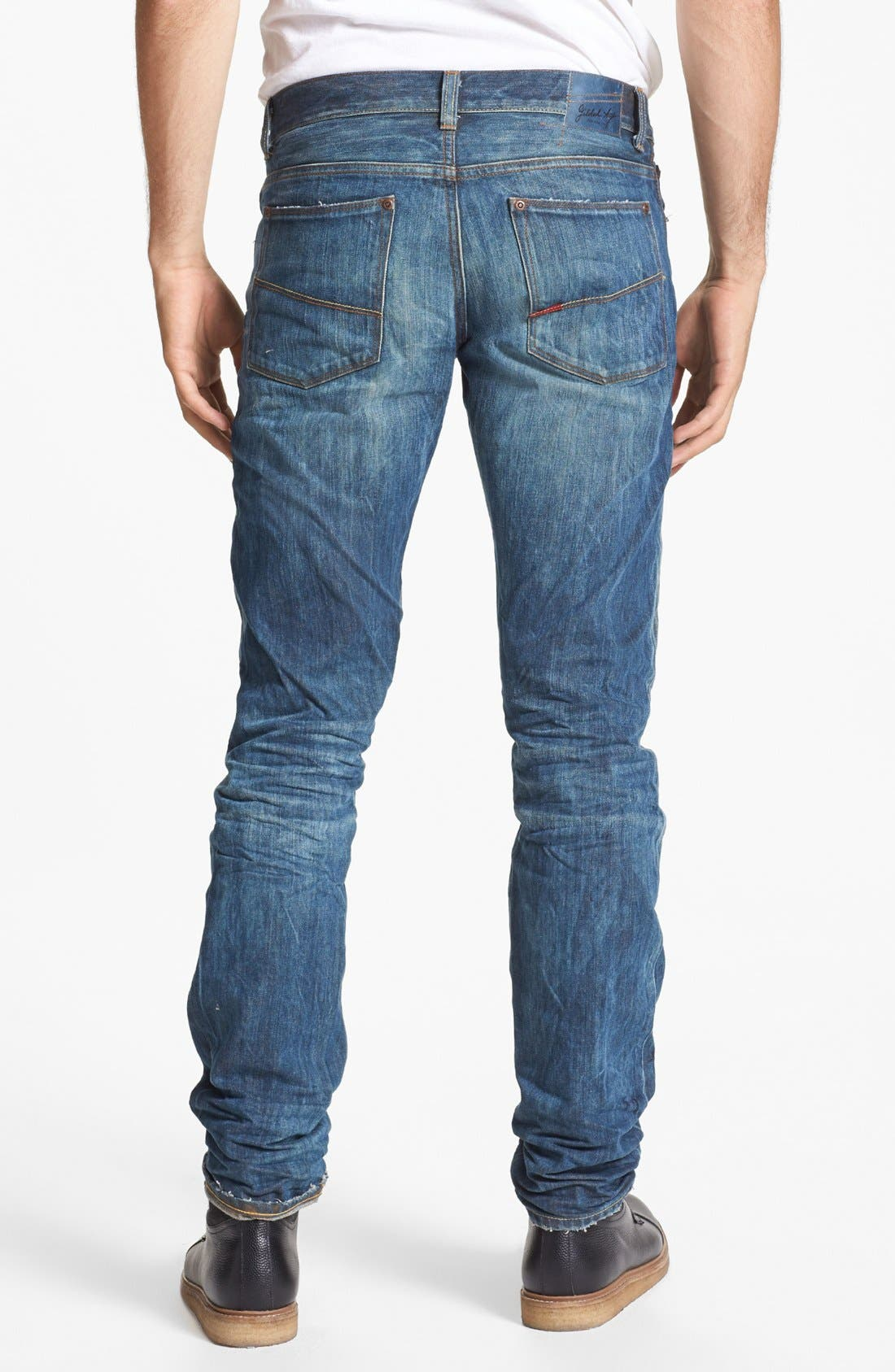 Alternate Image 1 Selected - Gilded Age 'Baxten' Slim Fit Jeans (Blue Rust)