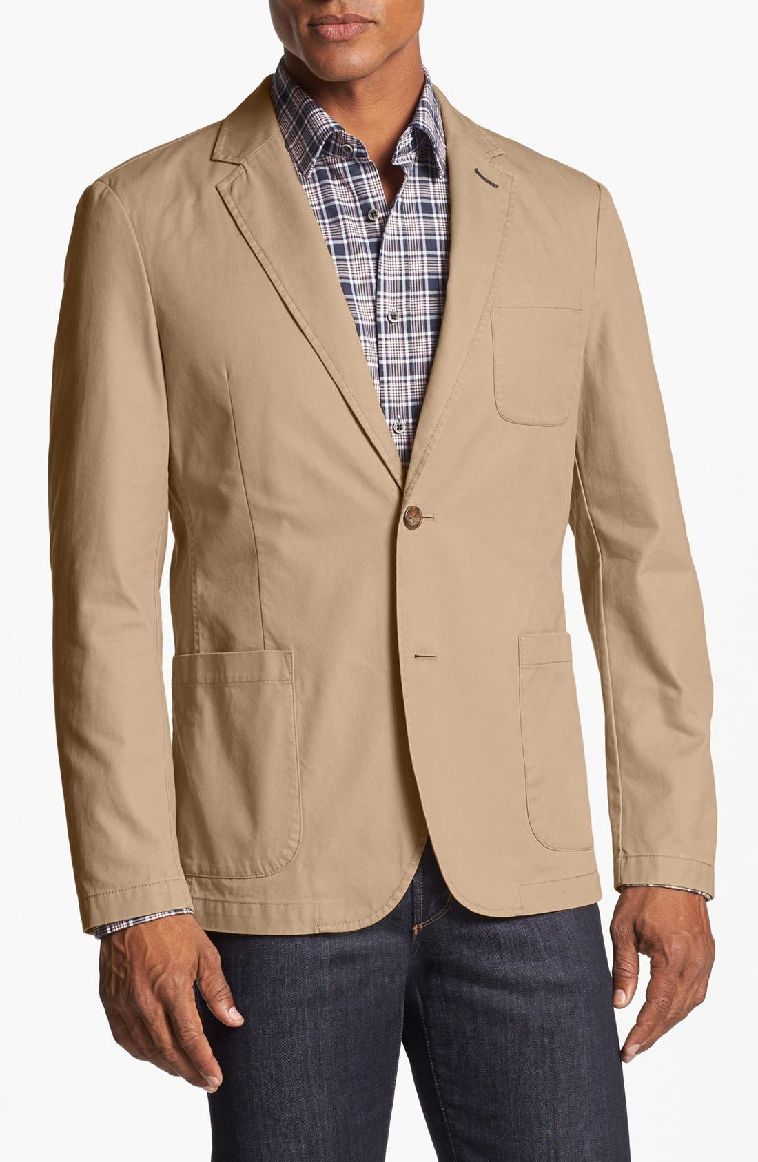 Alternate Image 1 Selected - Bonobos Washed Chino Blazer