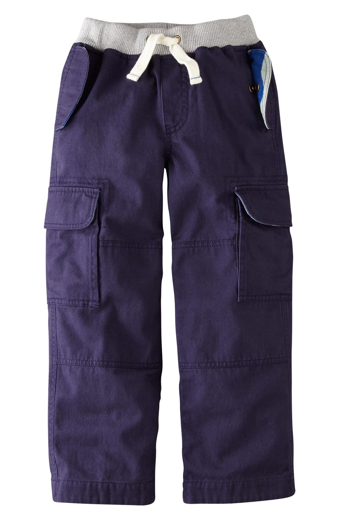 Alternate Image 1 Selected - Mini Boden Ribbed Waist Cargo Pants (Toddler Boys, Little Boys & Big Boys)