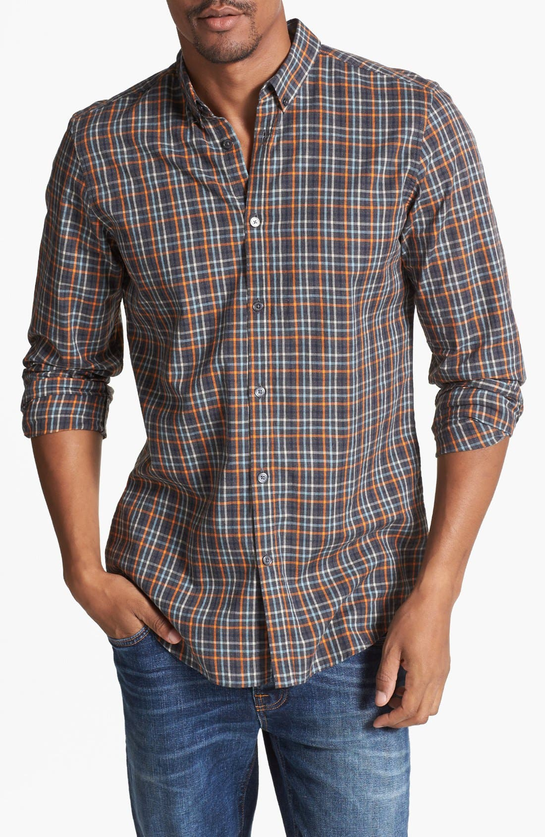 Alternate Image 1 Selected - Ben Sherman Slim Fit Plaid Shirt