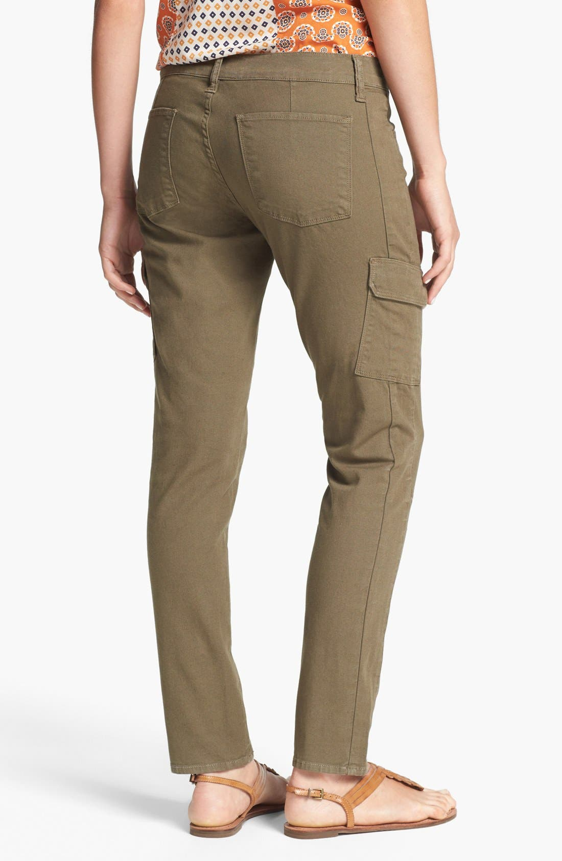 'Charlie' Cargo Skinny Pants,                             Alternate thumbnail 2, color,                             Army Green