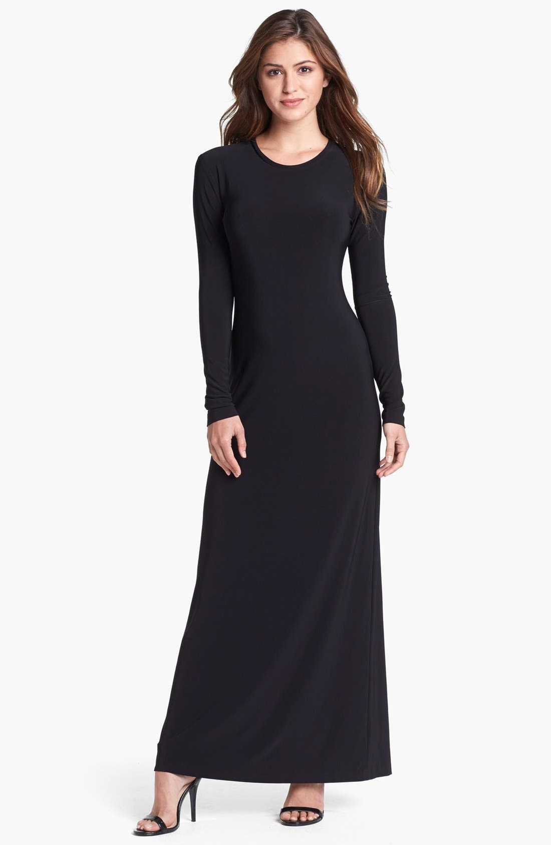 Main Image - KAMALIKULTURE Crewneck Maxi Dress