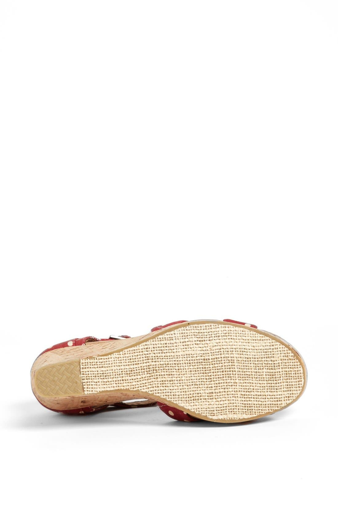 Alternate Image 4  - TOMS Polka Dot Linen Woven Wedge Sandal