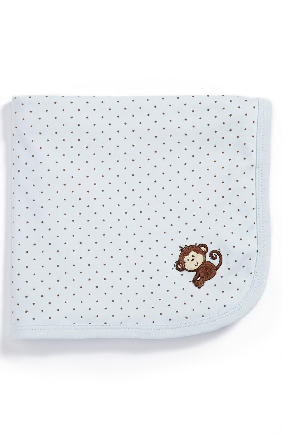 Alternate Image 1 Selected - Little Me 'Monkey Star' Receiving Blanket