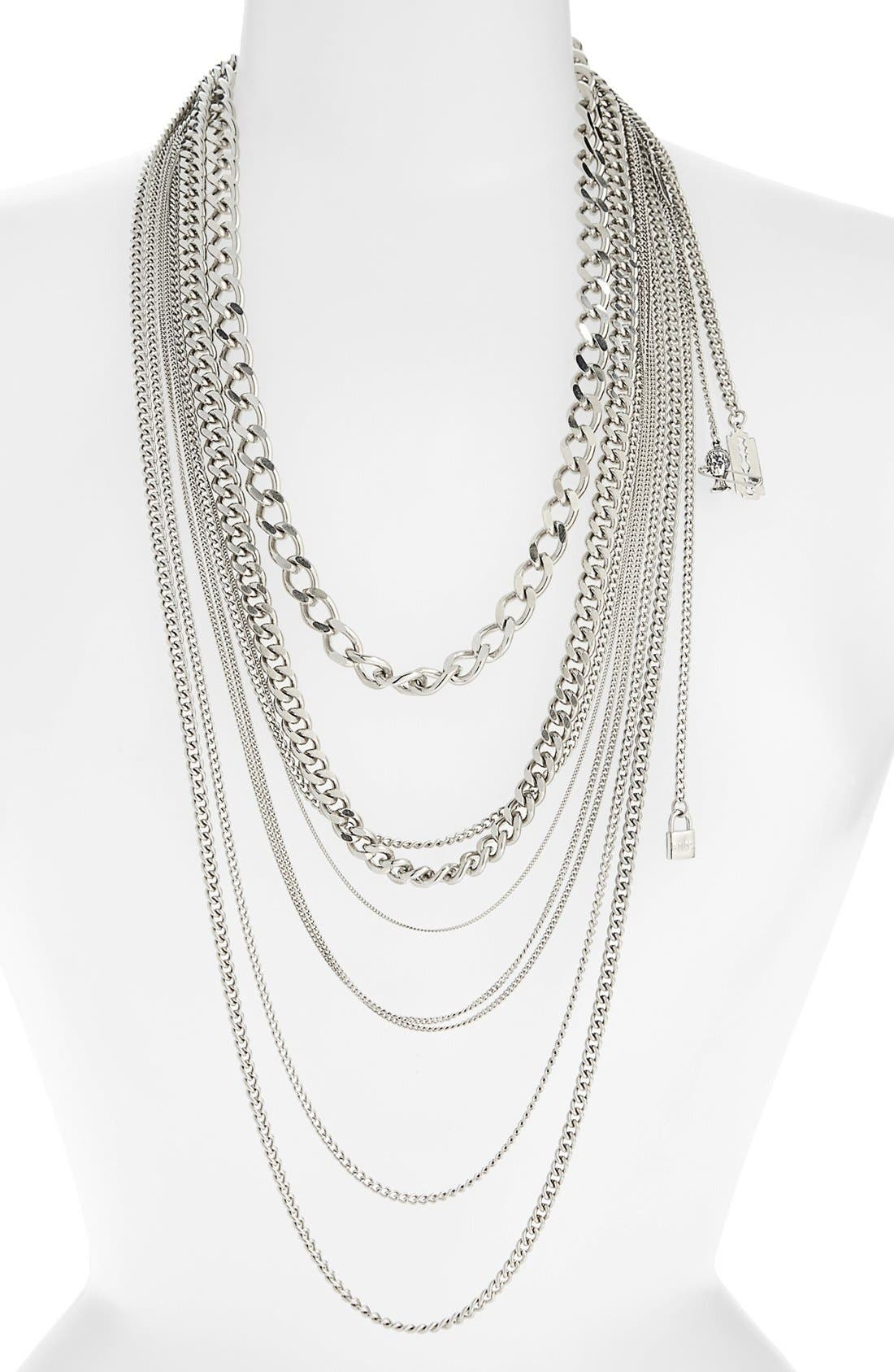 Alternate Image 1 Selected - Tom Binns 'Charm Offensive' Multistrand Chain Necklace