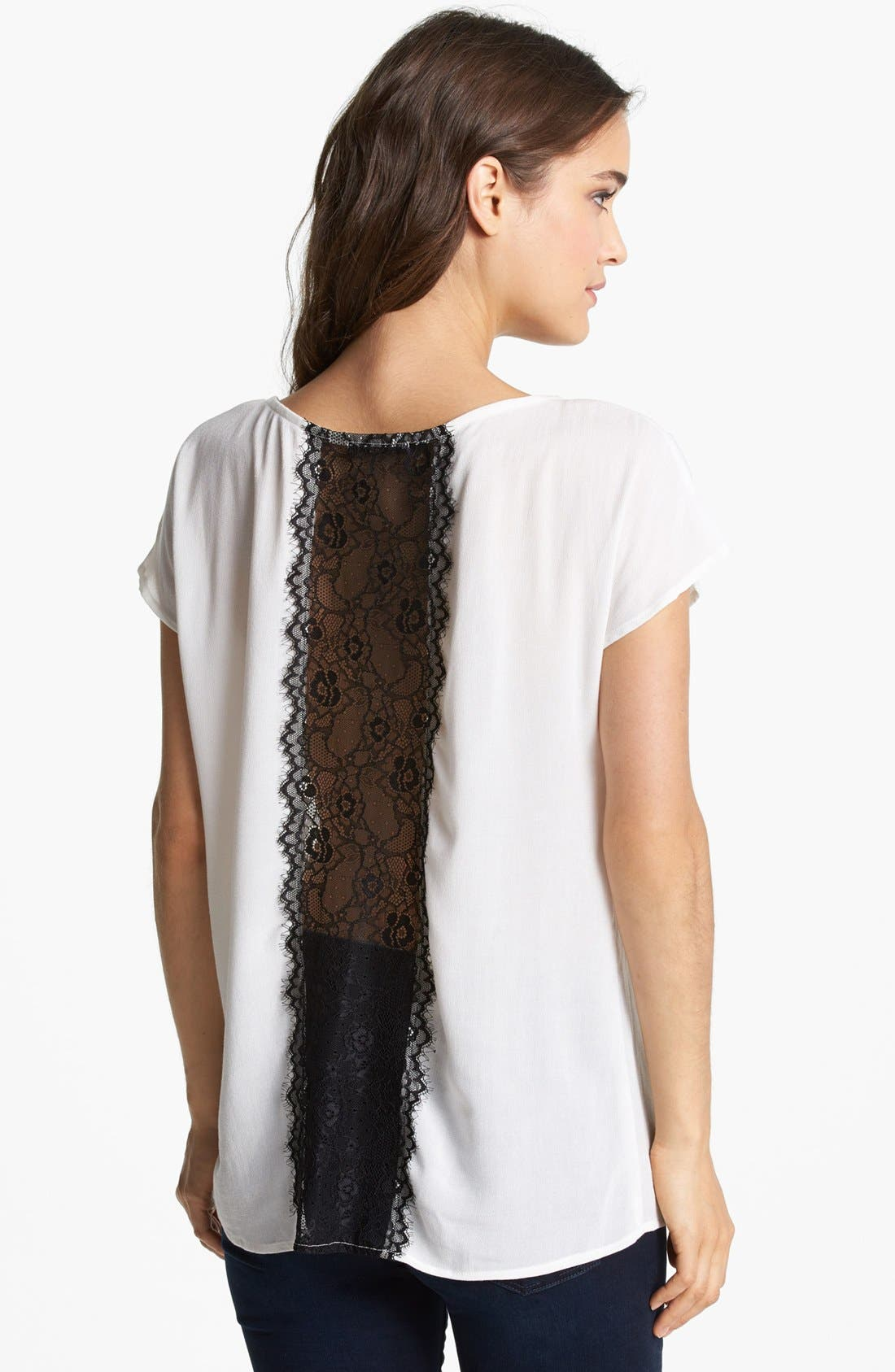 Alternate Image 2  - Ella Moss Lace Back Top