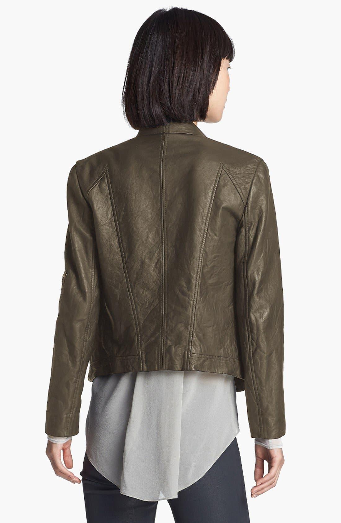 Alternate Image 4  - HELMUT Helmut Lang Washed Leather Moto Jacket