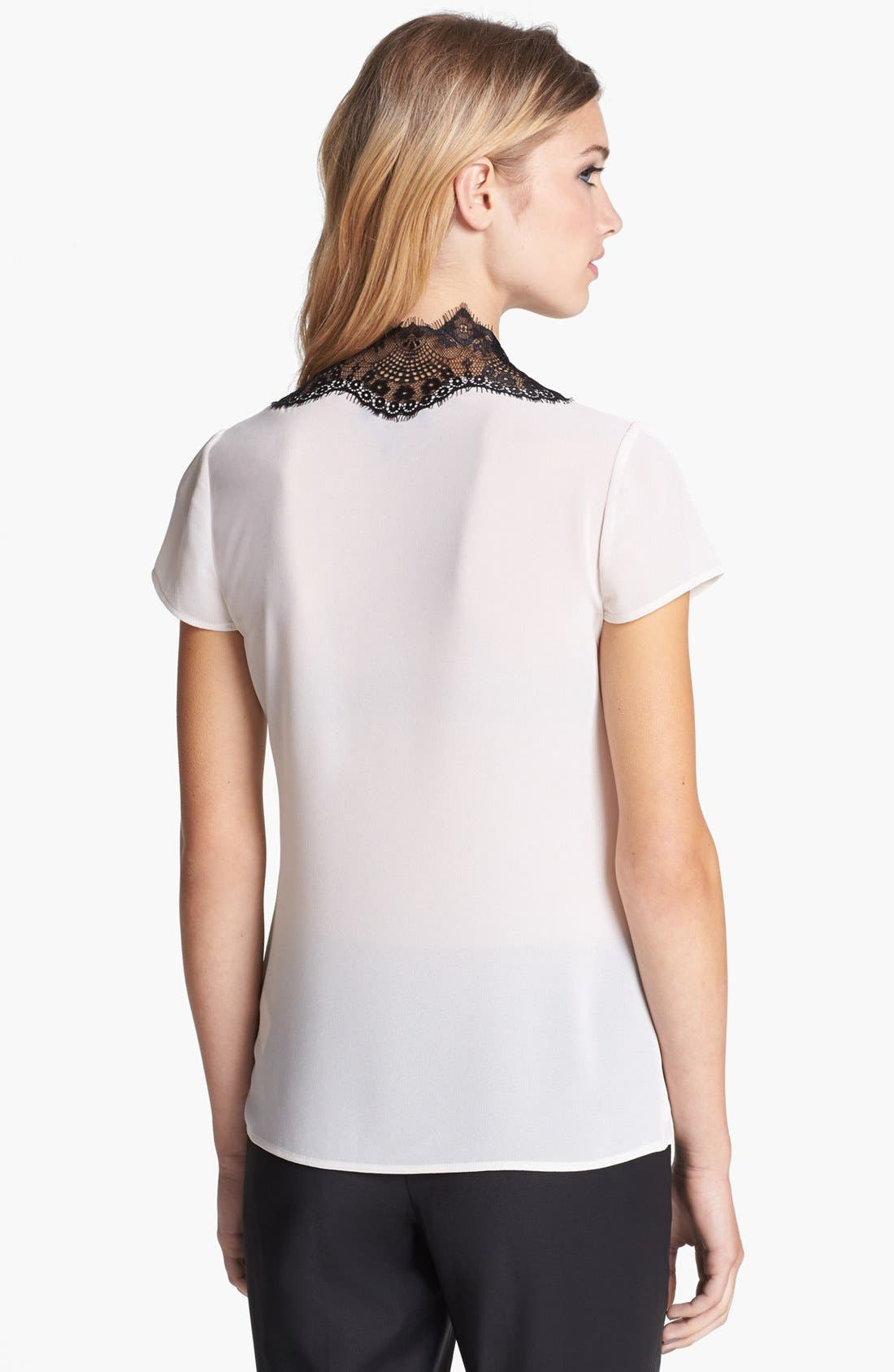 Alternate Image 2  - Ted Baker London Lace Paneled Top