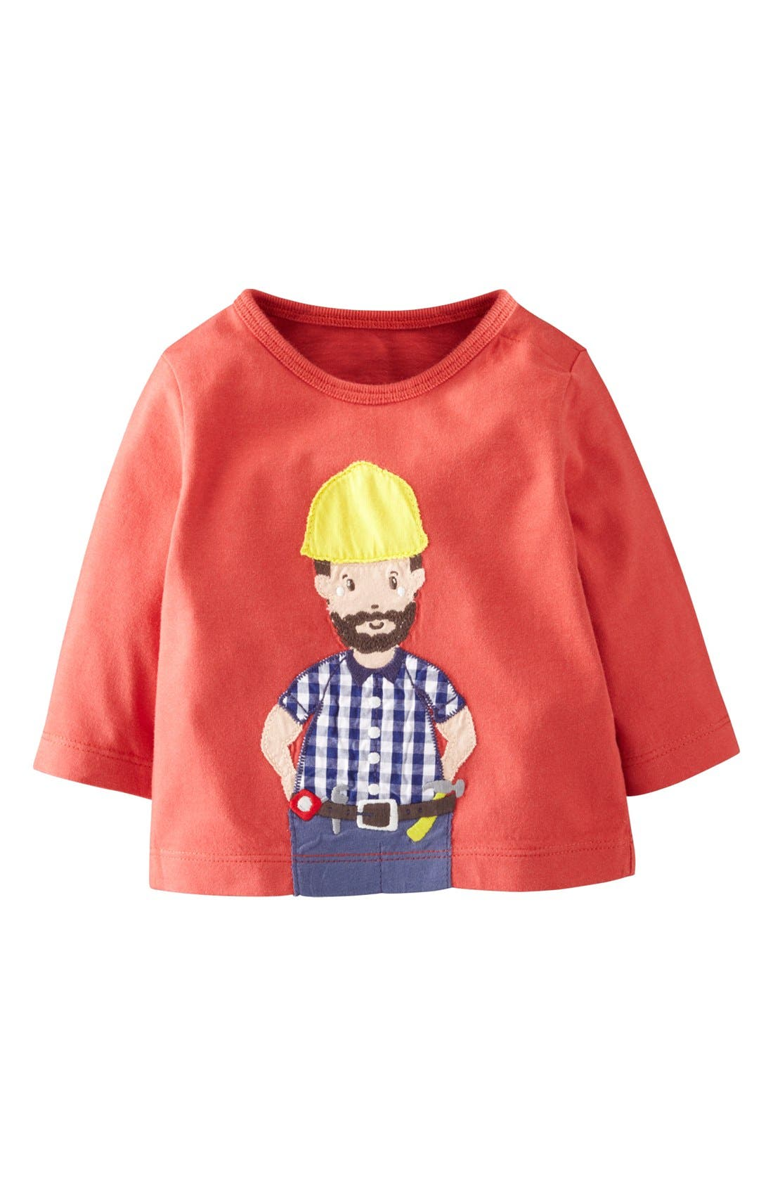 Alternate Image 1 Selected - Mini Boden 'When I Grow Up' Long Sleeve T-Shirt (Baby Boys)