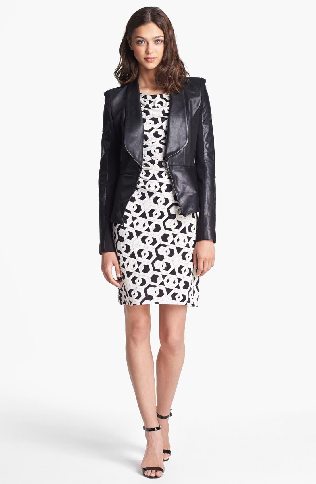 Alternate Image 1 Selected - Rebecca Minkoff 'Rebecca' Leather & Knit Jacket