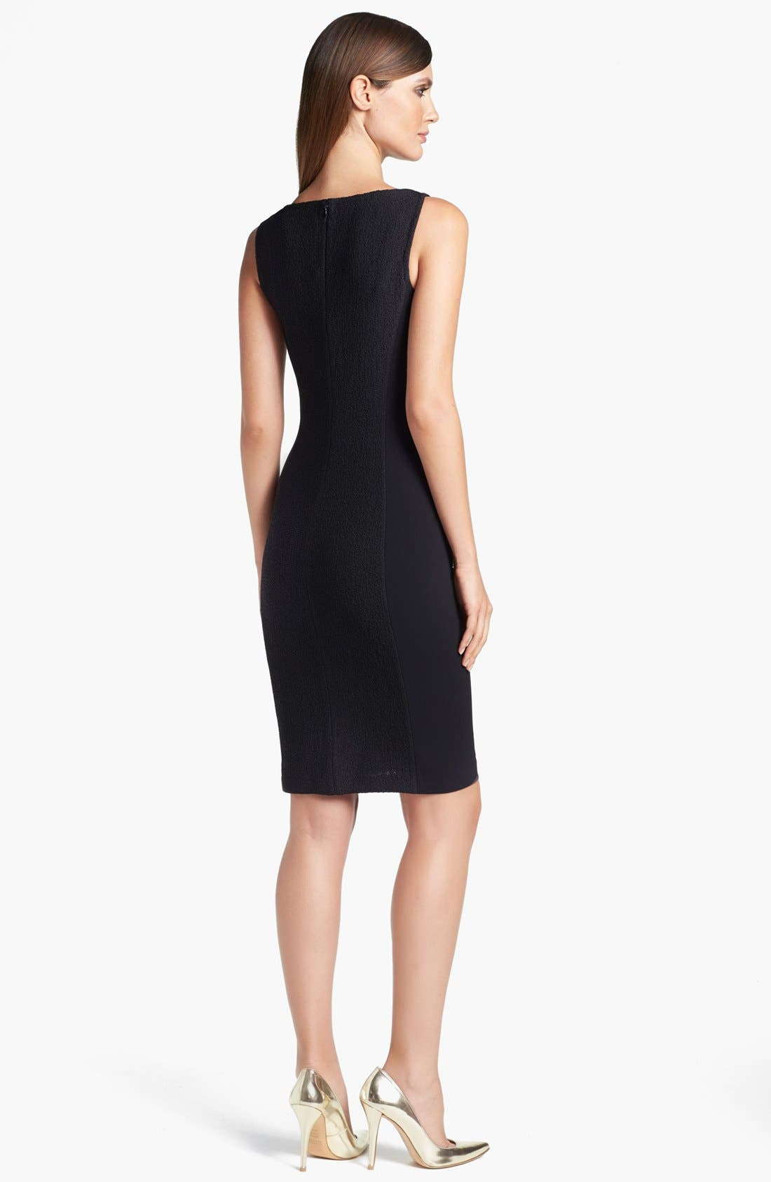 Alternate Image 2  - St. John Collection Crepe Panel Bouclé Knit Dress