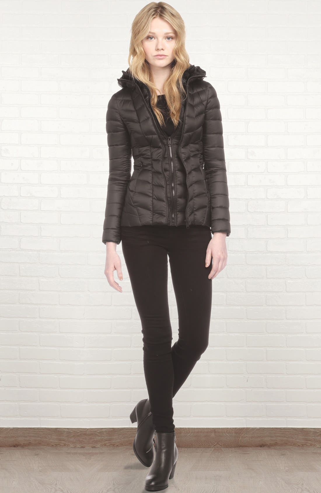 Alternate Image 4  - Soia & Kyo Hooded Packable Down Jacket with Front Insert