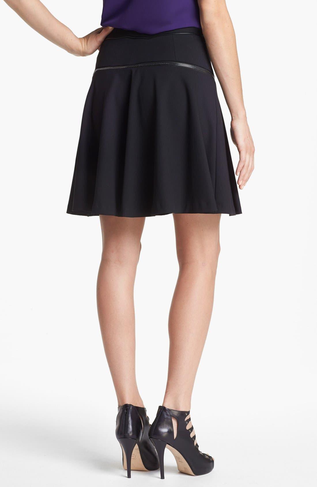 Alternate Image 2  - Vince Camuto Zip Trim Skirt