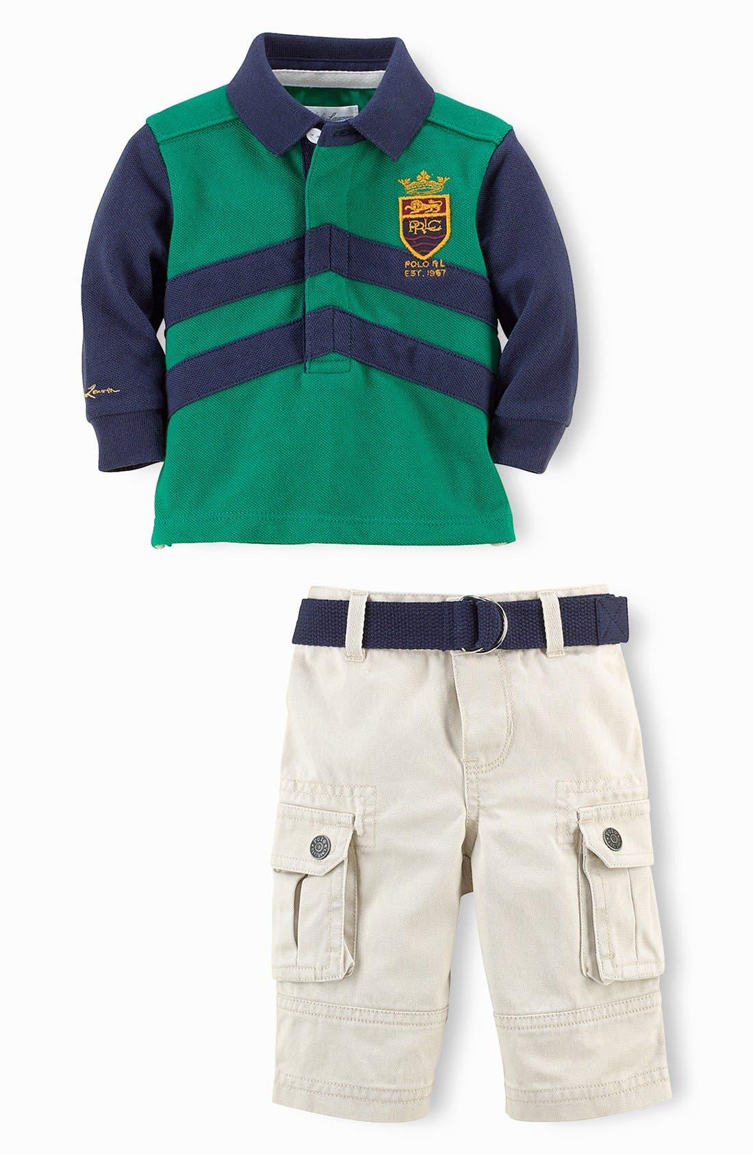 Alternate Image 2  - Ralph Lauren Polo & Pants (Baby Boys)