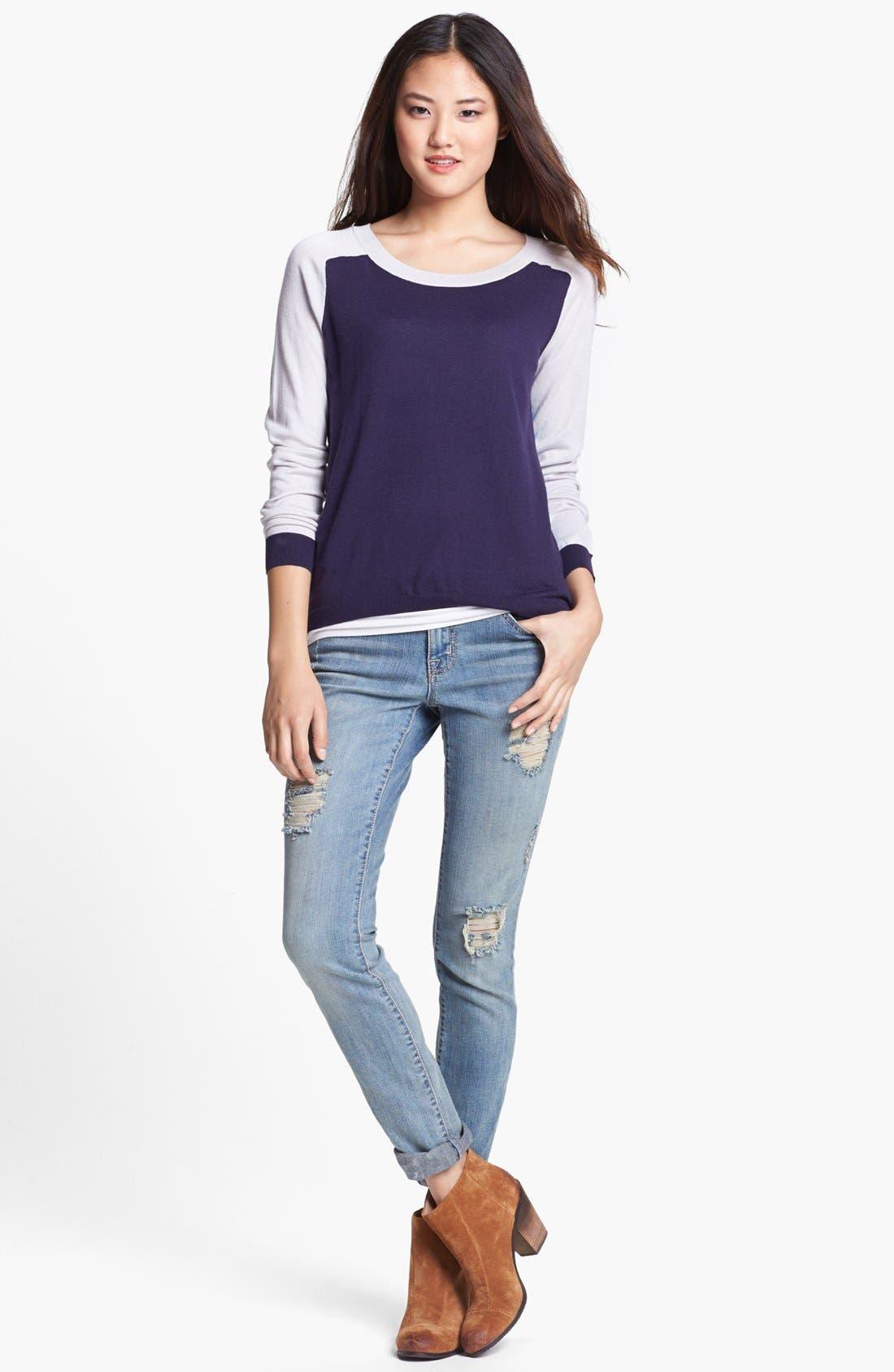 Main Image - Caslon® Crewneck High/Low Sweater