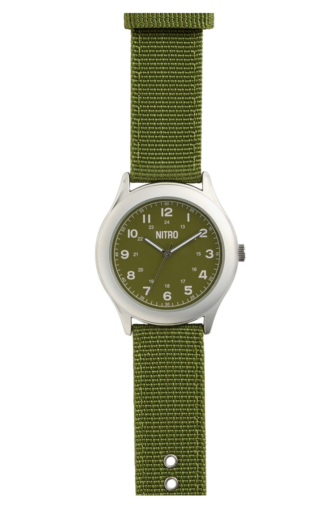 Alternate Image 1 Selected - Nitro Canvas Watch (Boys)