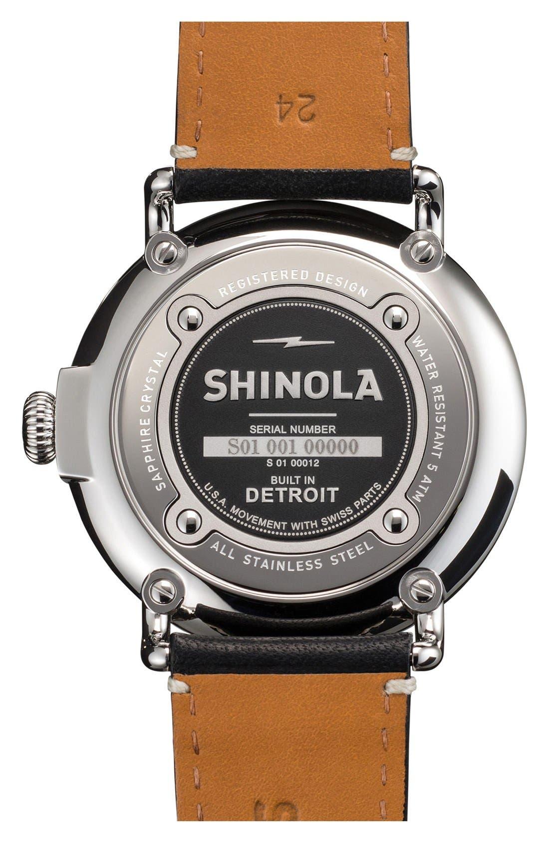 Alternate Image 2  - Shinola 'The Runwell' Leather Strap Watch, 47mm