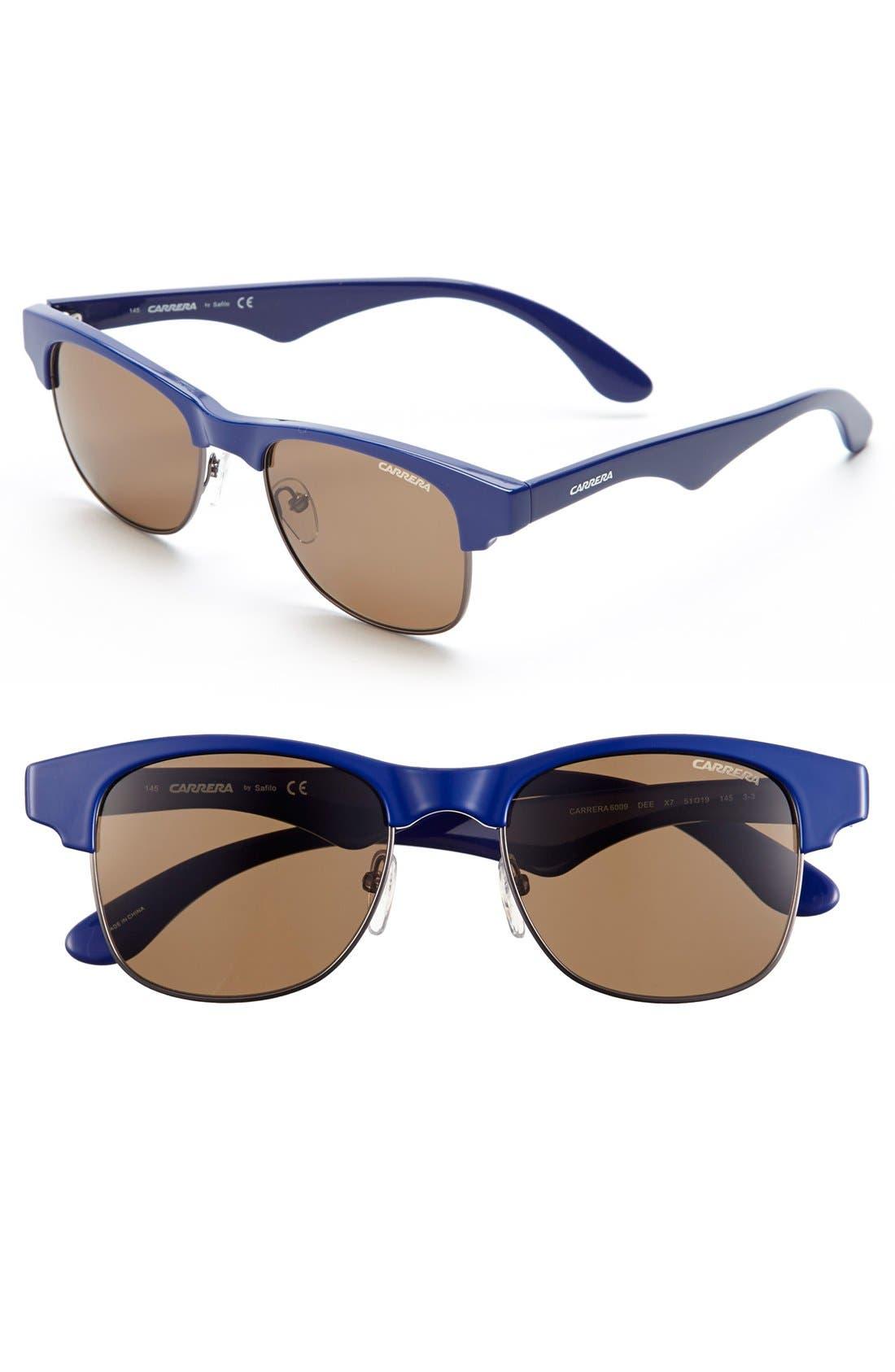 Alternate Image 1 Selected - Carrera Eyewear 51mm Browline Sunglasses