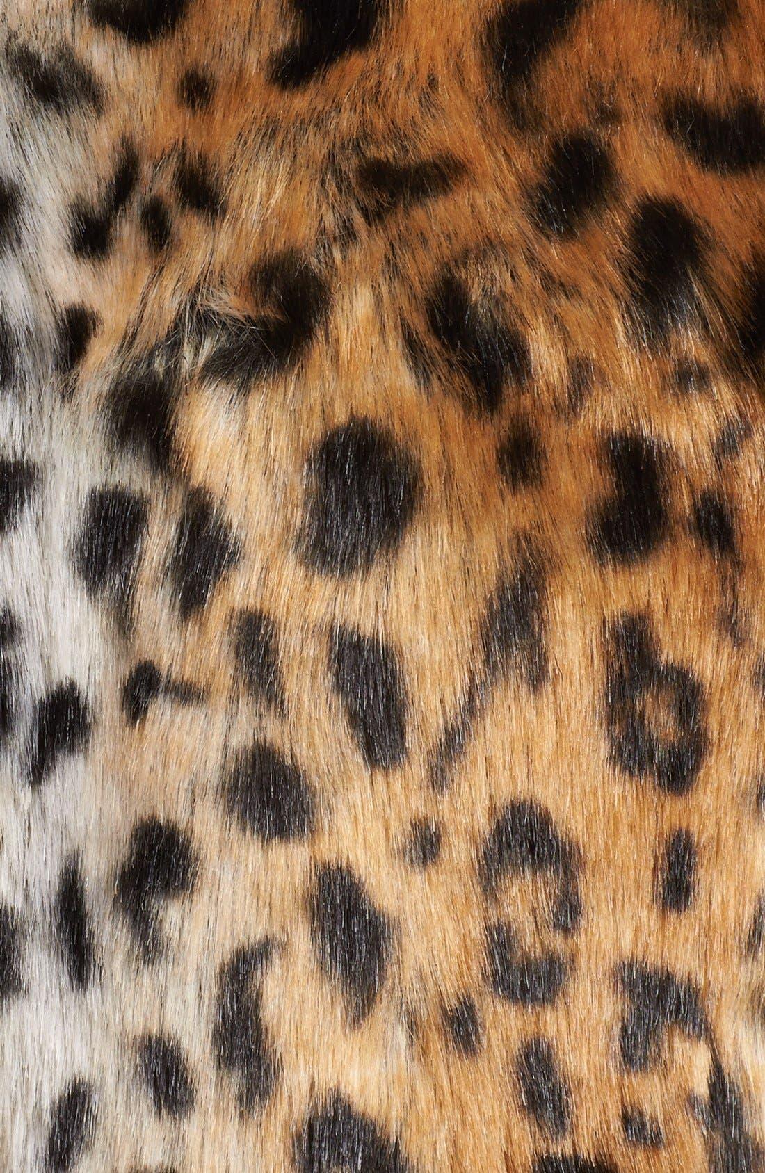Alternate Image 3  - Damselle Belted Faux Fur Vest (Online Only)