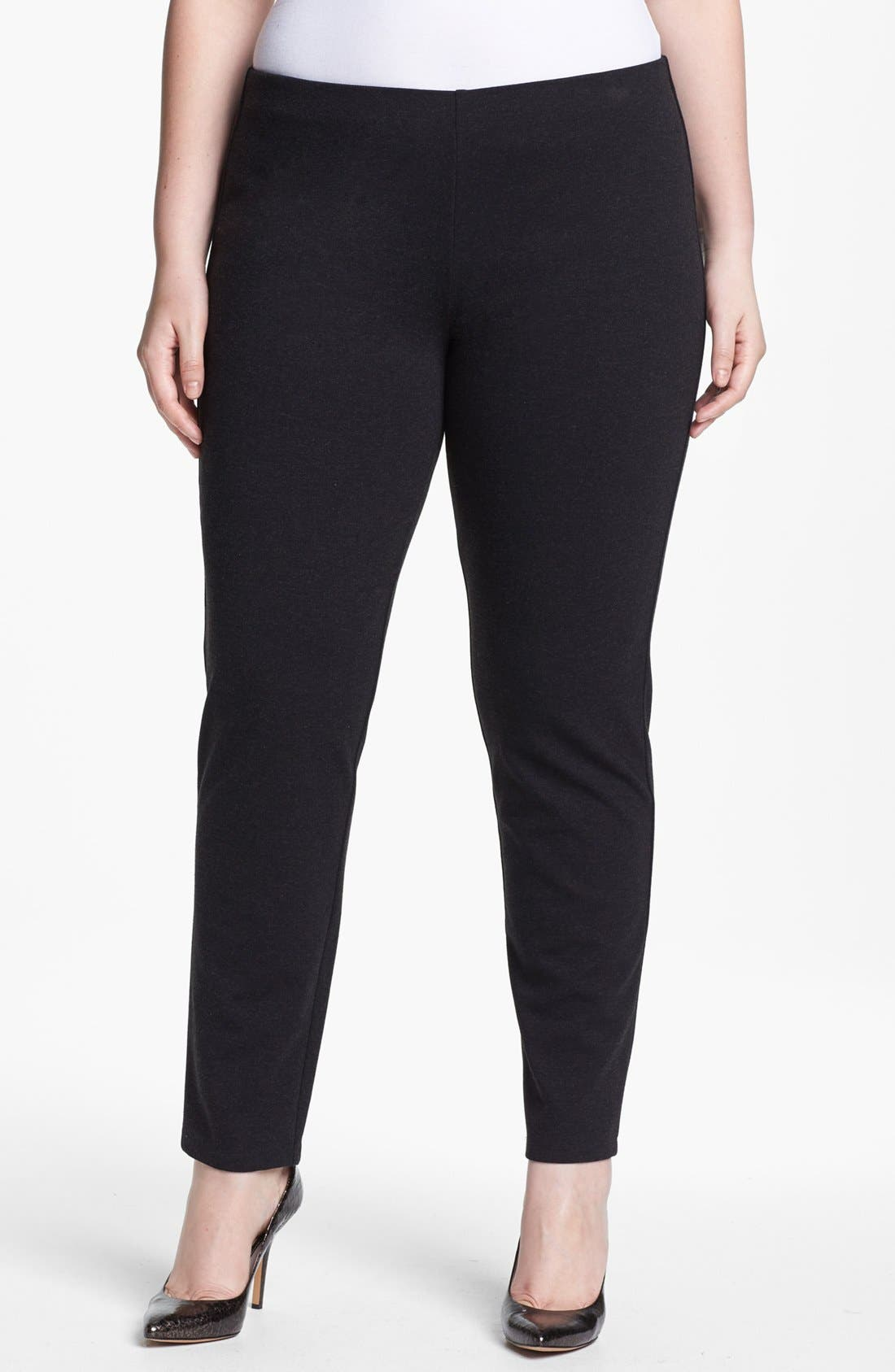 Alternate Image 1 Selected - Eileen Fisher Slim Ankle Pants (Plus Size)