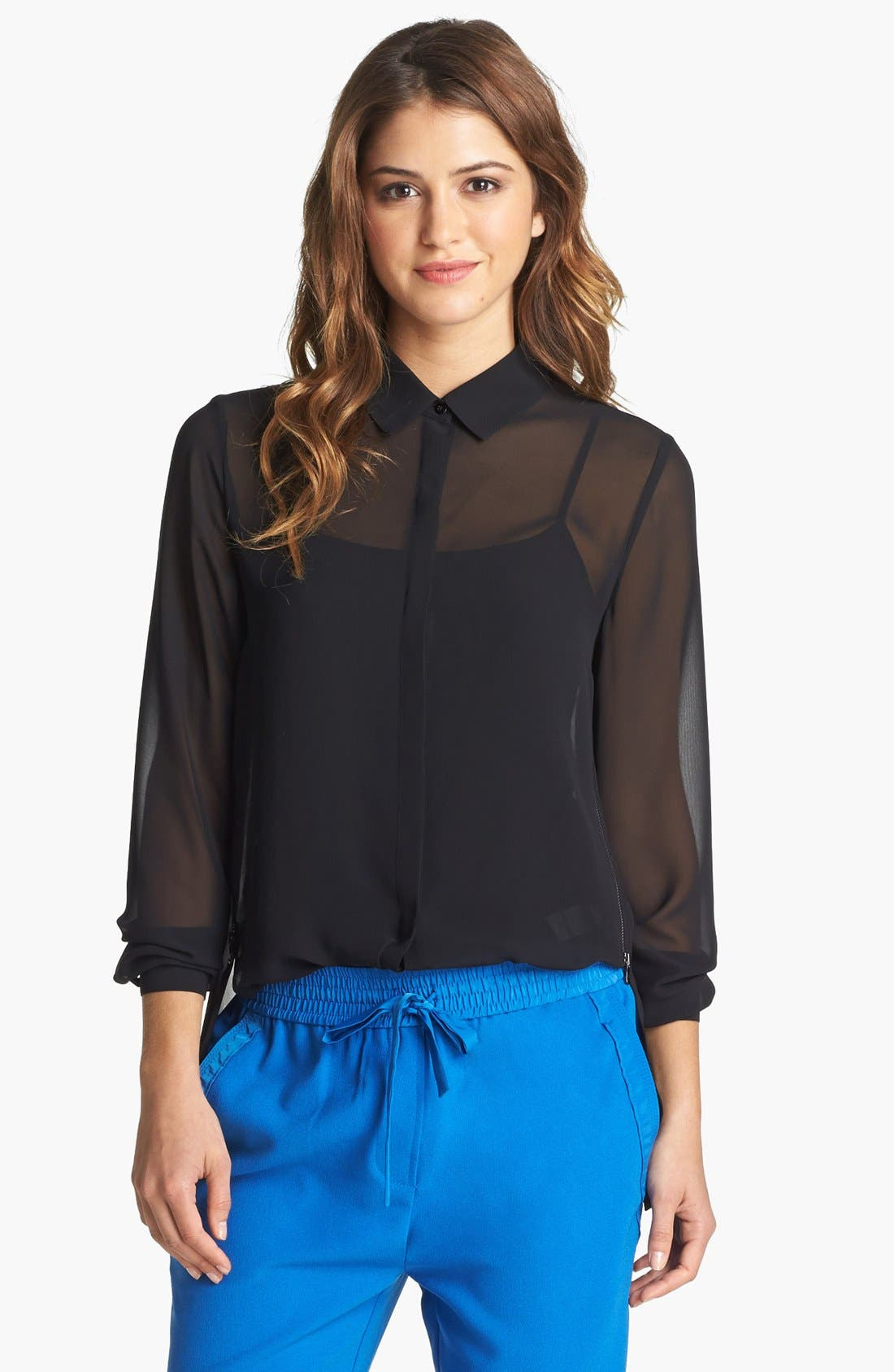 Alternate Image 1 Selected - Kenneth Cole New York 'Farika' Side Zip Blouse