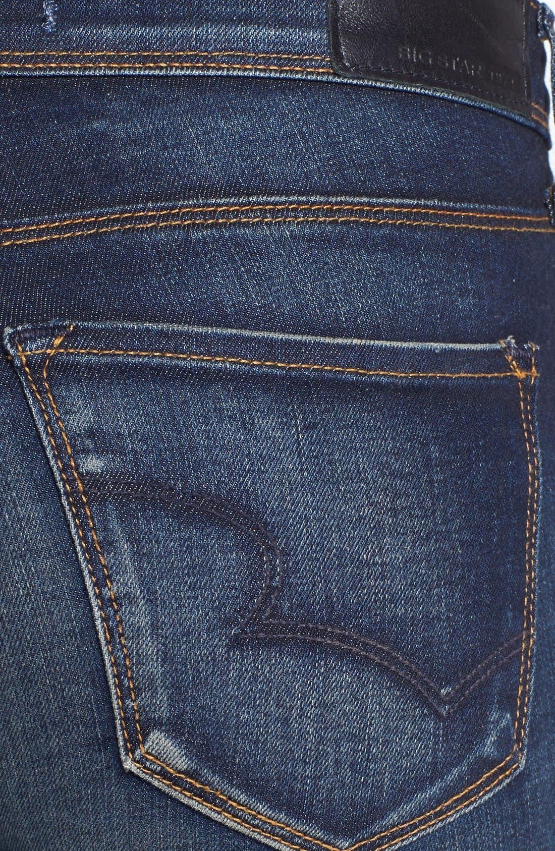 Alternate Image 3  - Big Star 'Alex' Stretch Skinny Jeans (Valencia) (Petite)