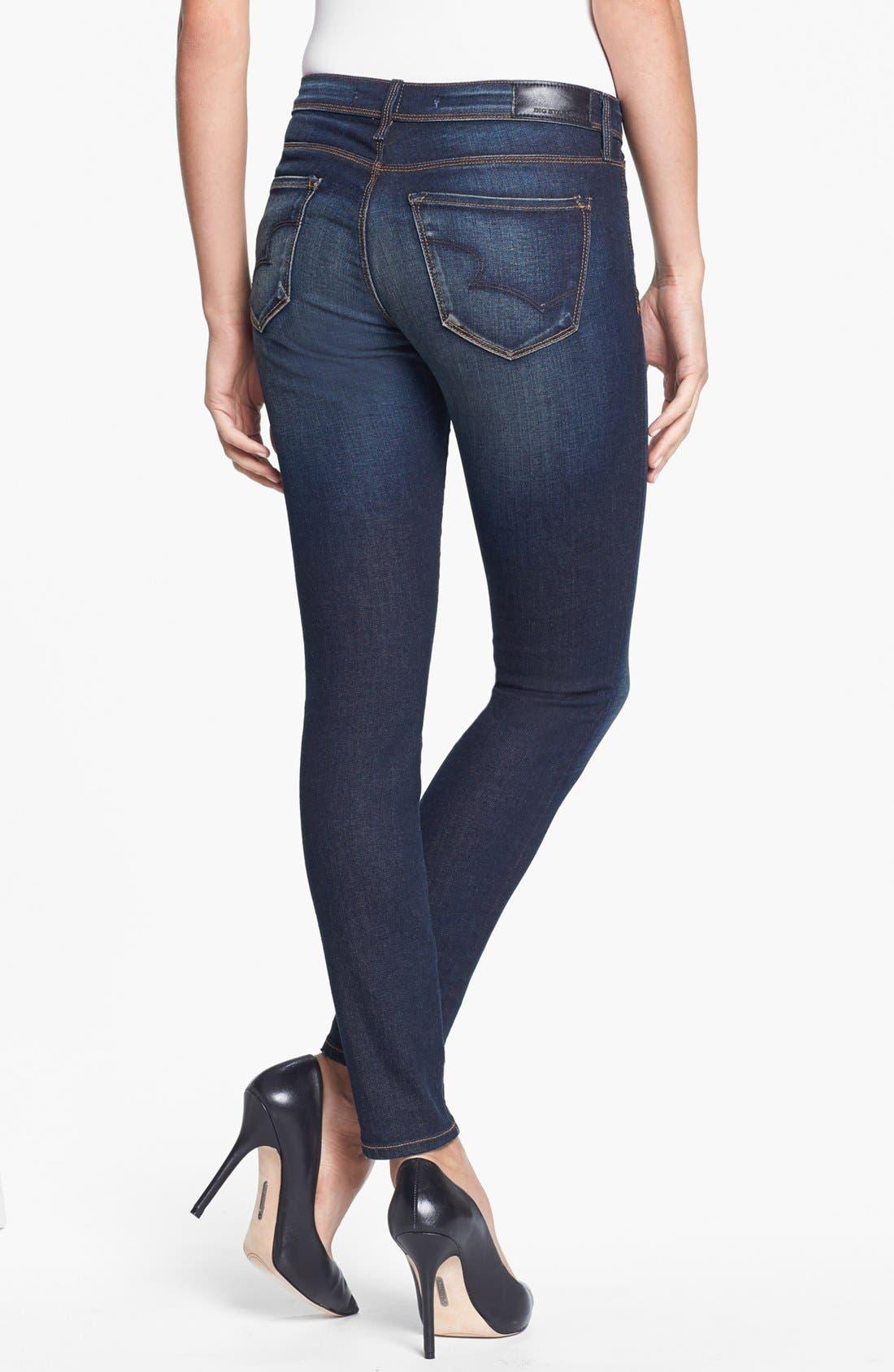 Alternate Image 2  - Big Star 'Alex' Stretch Skinny Jeans (Valencia) (Petite)