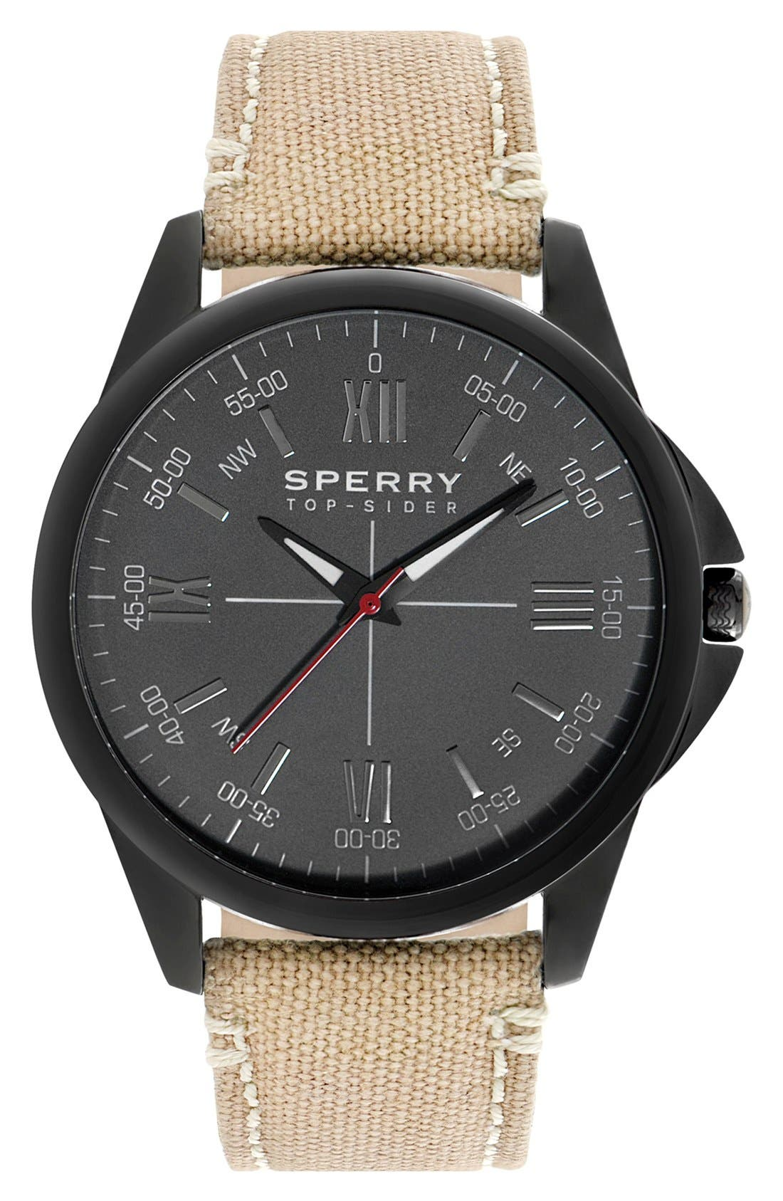 Alternate Image 1 Selected - Sperry Top-Sider® 'Kinney' Round Watch, 44mm