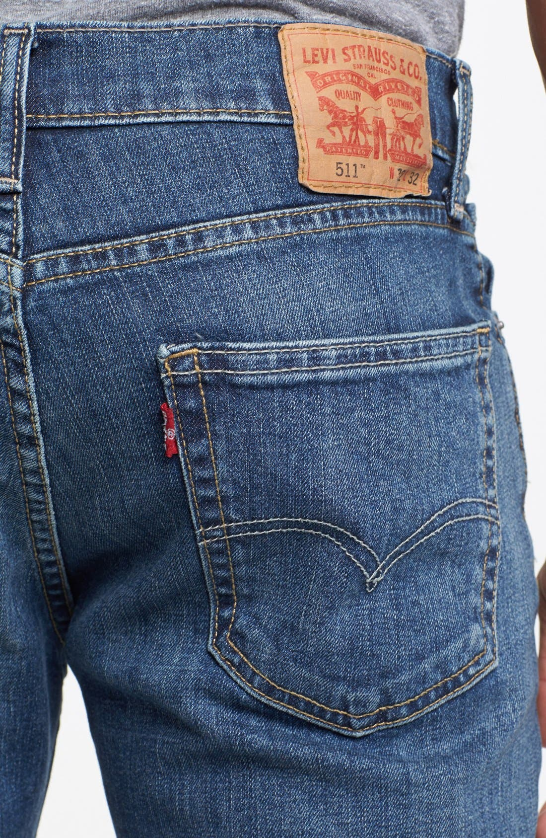 Alternate Image 4  - Levi's® '511™' Slim Fit Jeans (Dusky Blues)