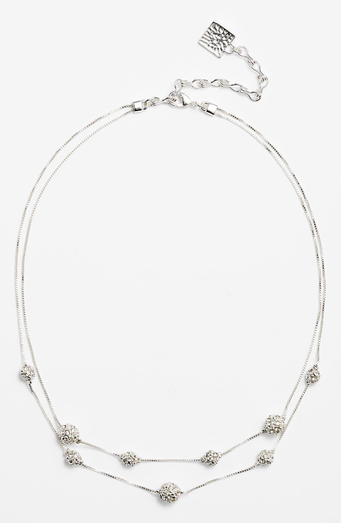 Main Image - Anne Klein Double Strand Fireball Illusion Necklace