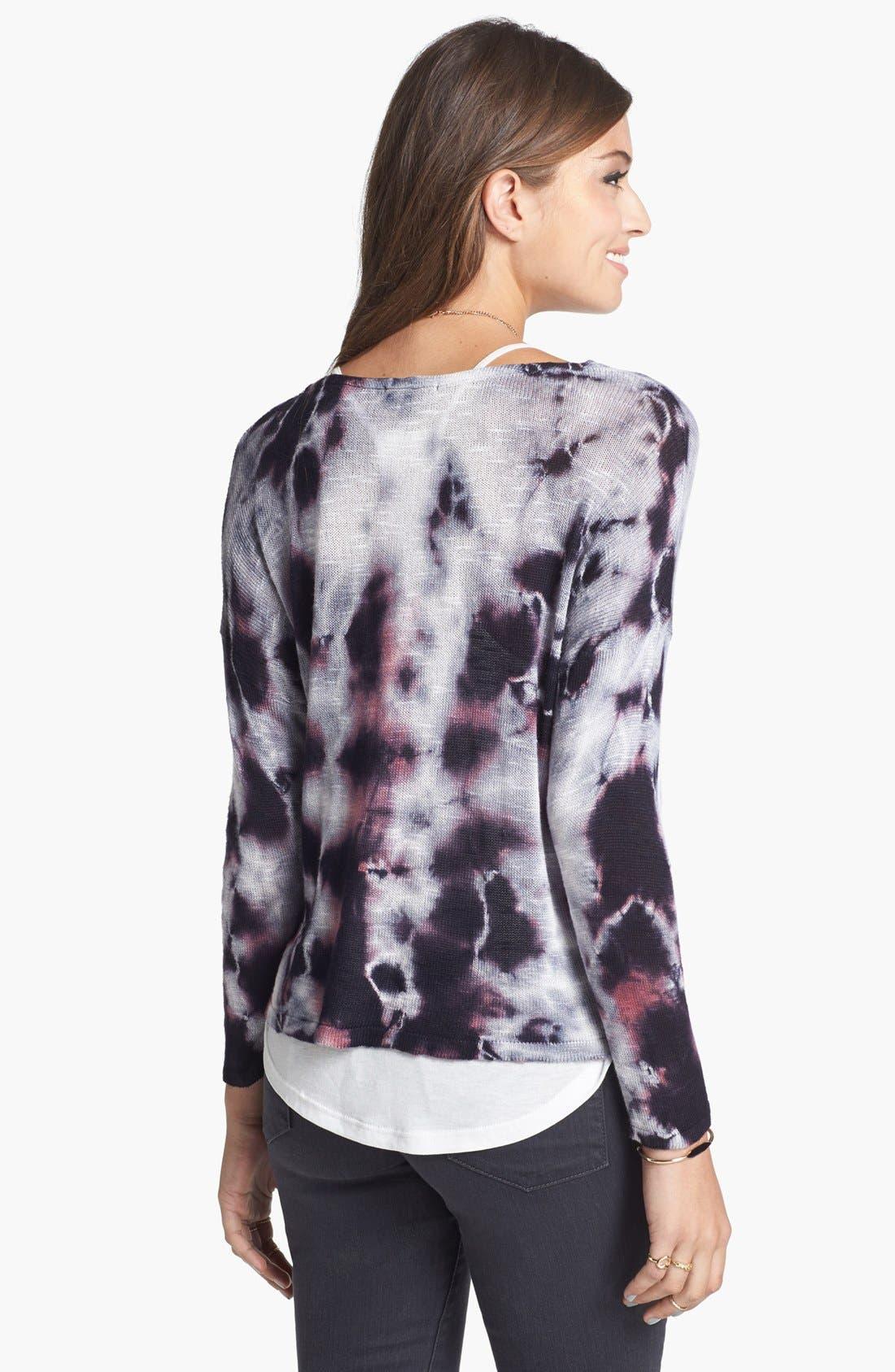 Alternate Image 2  - Truehitt Tie Dye Crop Sweater (Juniors)