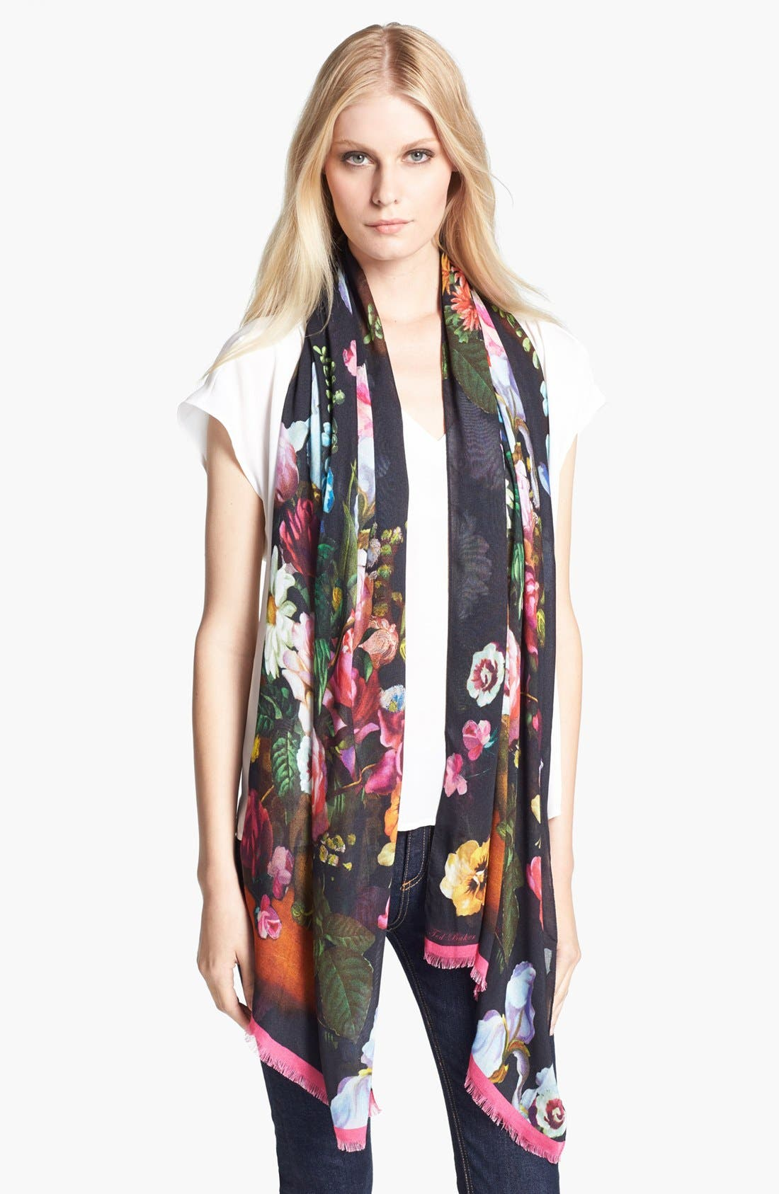 Alternate Image 1 Selected - Ted Baker London Floral Print Scarf