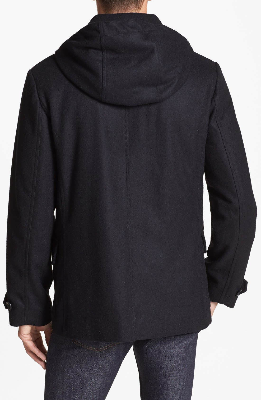 Alternate Image 2  - French Connection 'Marine Melton' Hooded Peacoat