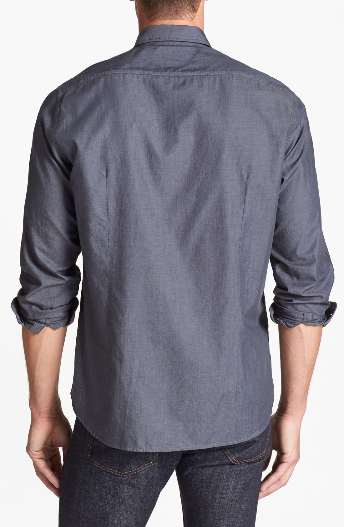 Alternate Image 2  - BOSS HUGO BOSS 'Lorenzo' Regular Fit Chambray Sport Shirt