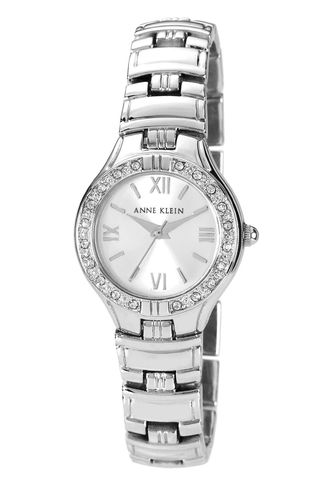 Main Image - Anne Klein Crystal Bezel Bracelet Watch, 25mm