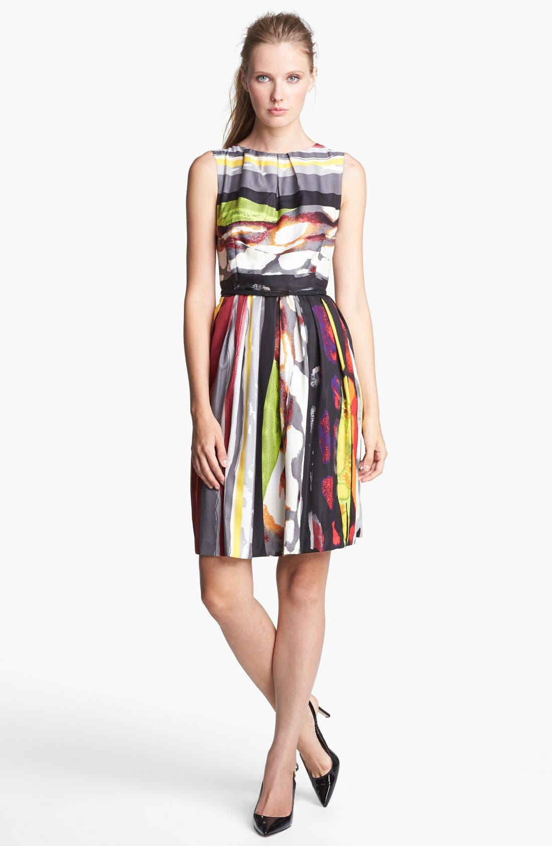 Main Image - Ellen Tracy Print Fit & Flare Dress