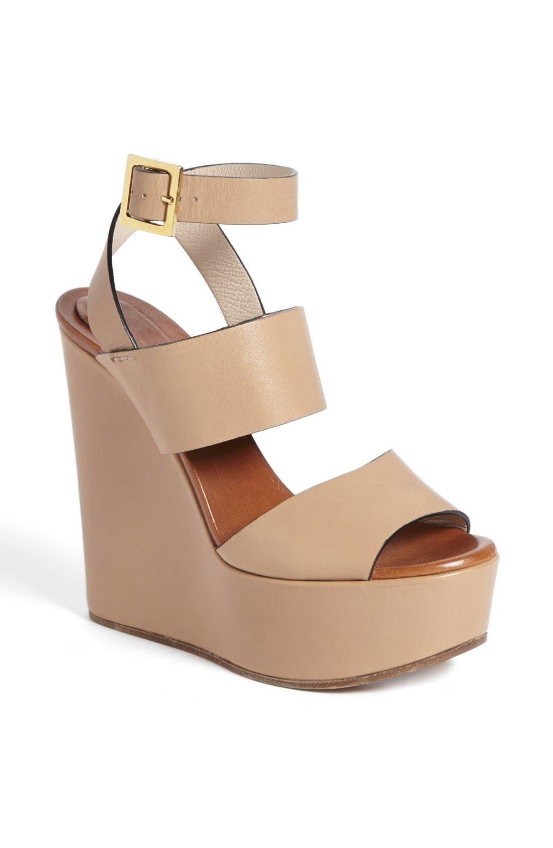 Alternate Image 1 Selected - Chloé 'Central' Wedge Sandal