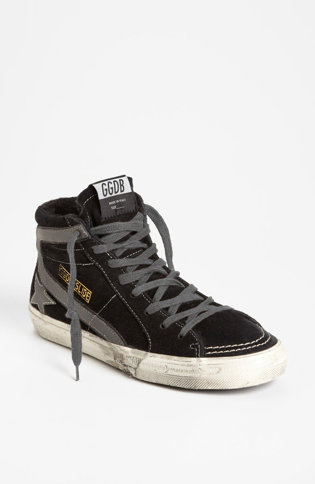 'Mid Top Slide' Sneaker,                             Main thumbnail 1, color,                             Black