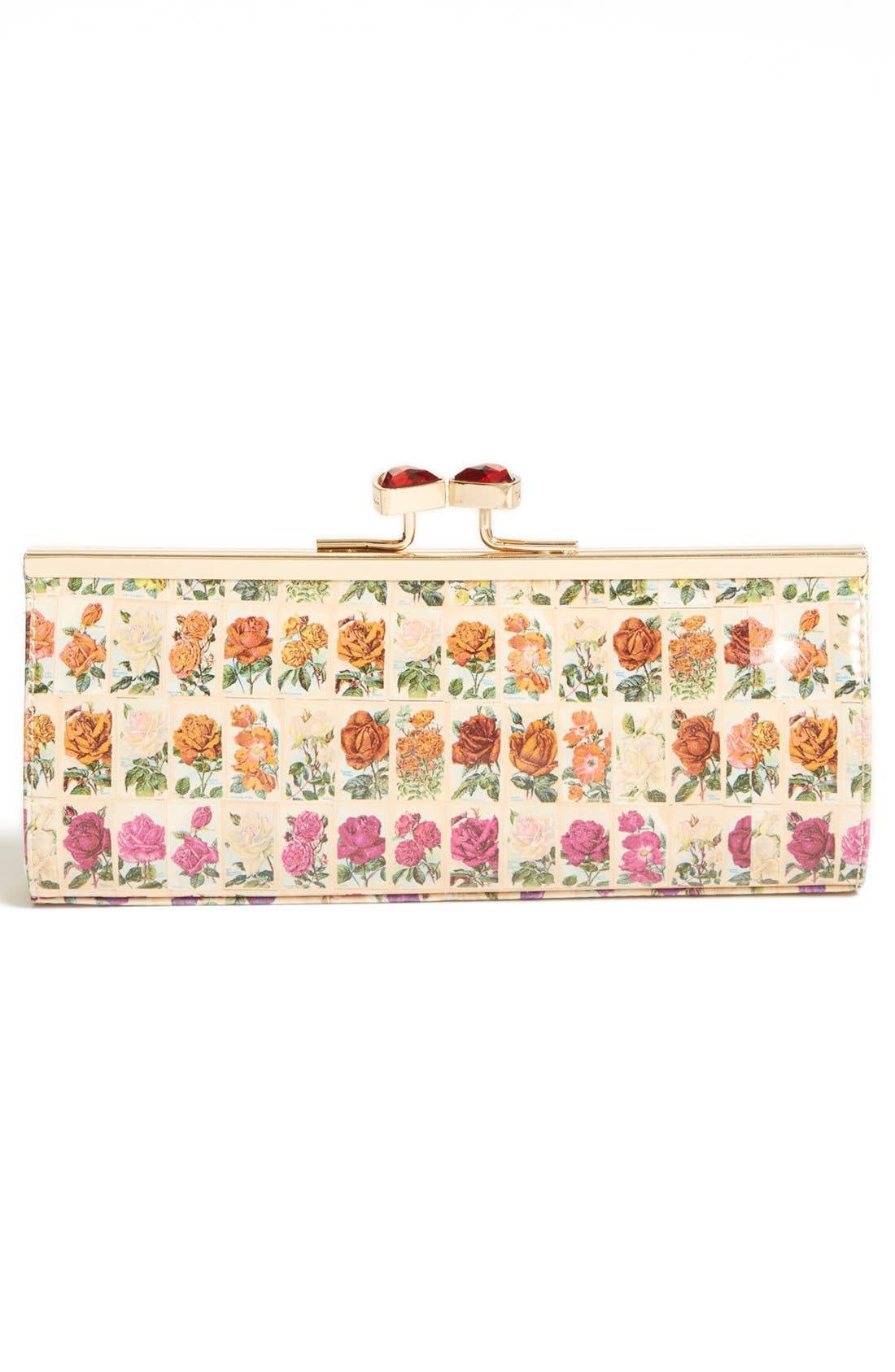 Alternate Image 4  - Ted Baker London Floral Print Crystal Bow Clutch