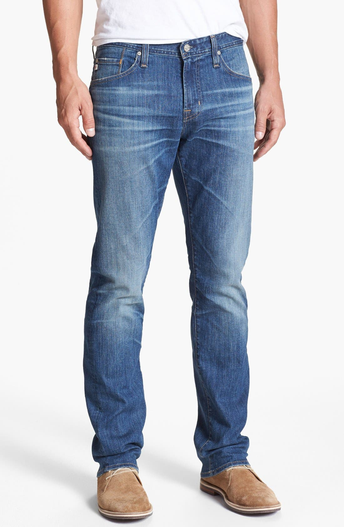 Alternate Image 1 Selected - AG 'Graduate' Tailored Fit Straight Leg Jeans (13 Year Origin)