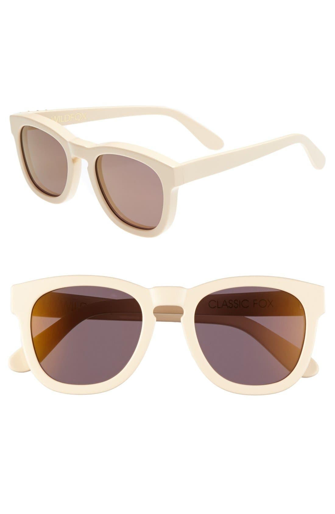 Alternate Image 1 Selected - Wildfox 'Classic Fox - Deluxe' 52mm Sunglasses