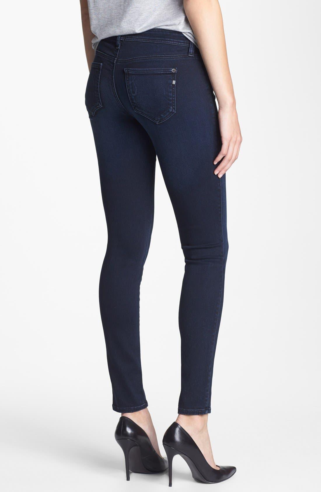 Alternate Image 2  - Genetic 'The Stem' Mid Rise Skinny Jeans (Pop Blue)