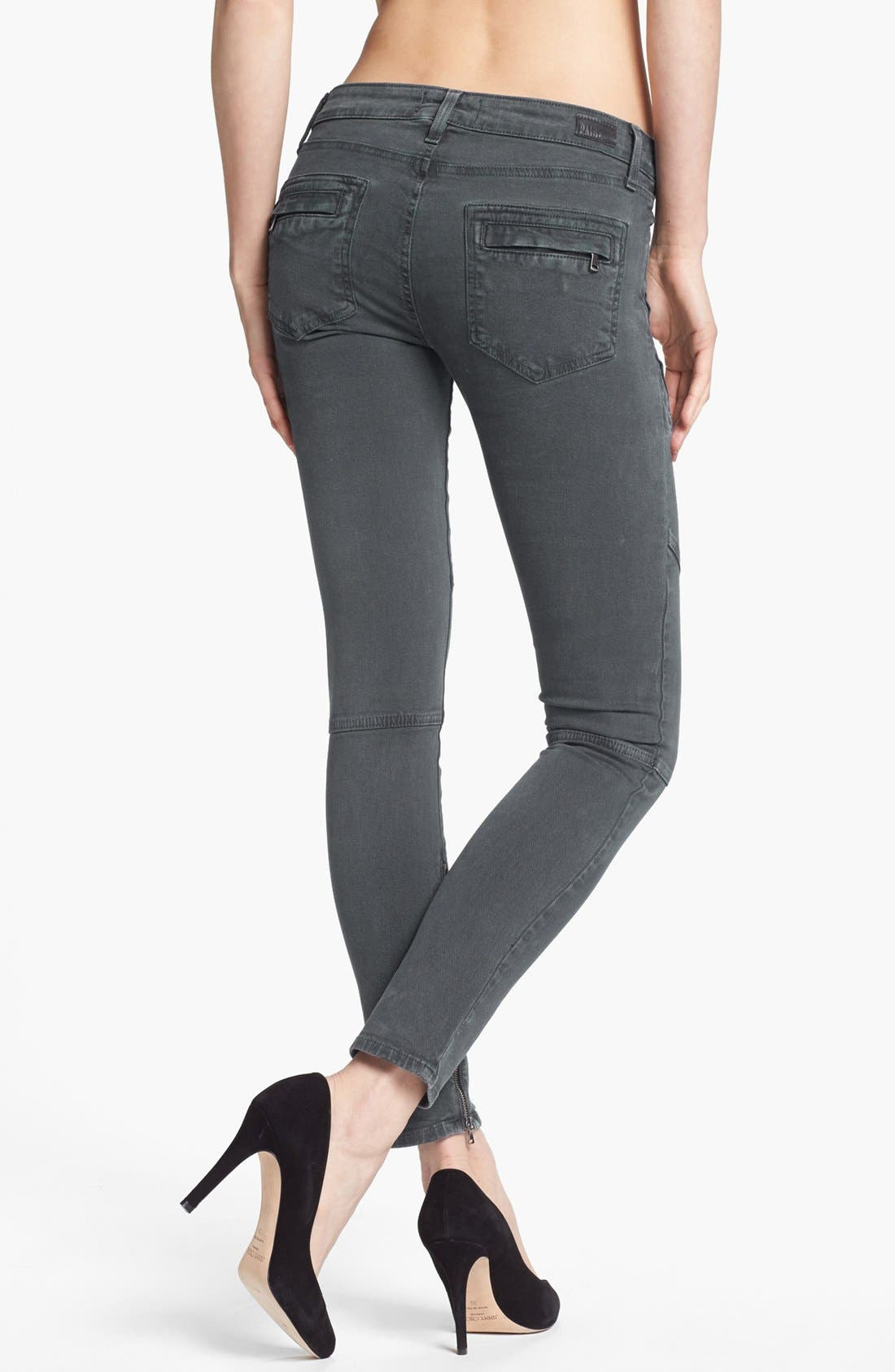 Alternate Image 2  - Paige Denim 'Marley' Seam Detail Skinny Jeans (Black Current)
