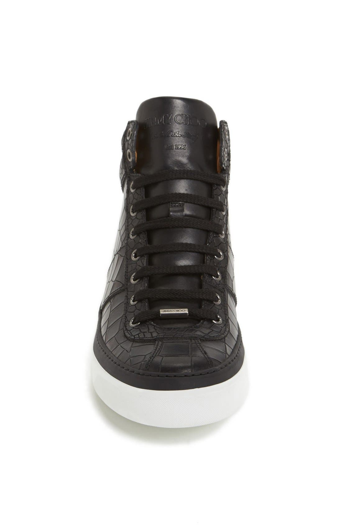 Belgravia High Top Sneaker,                             Alternate thumbnail 3, color,                             Black