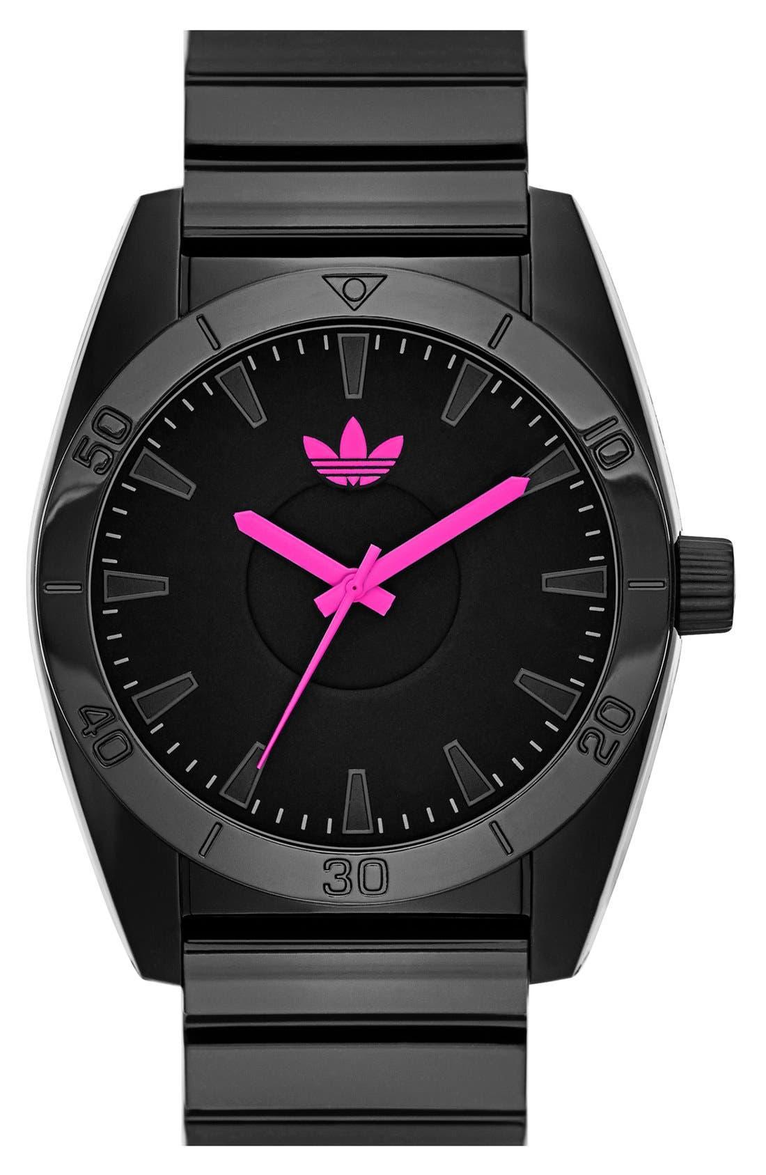 Main Image - adidas Originals 'Santiago' Neon Accent Watch, 42mm
