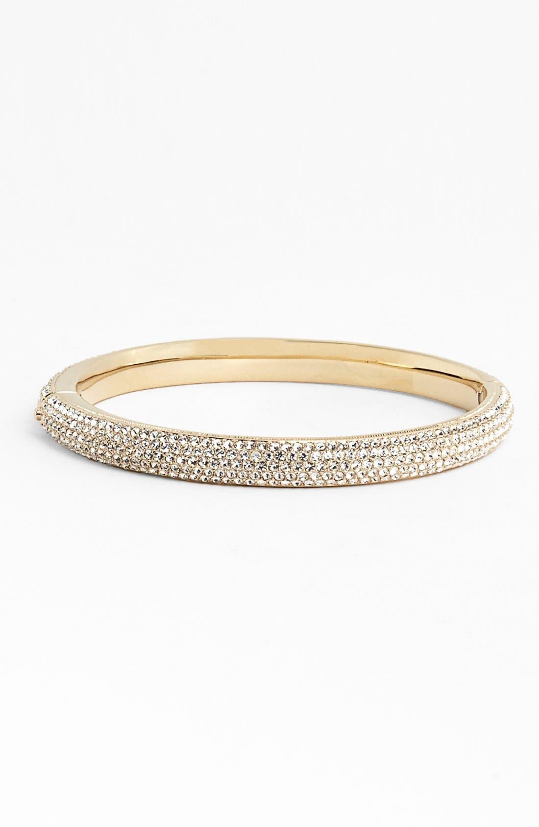 Pavé Crystal Bangle,                         Main,                         color, Gold