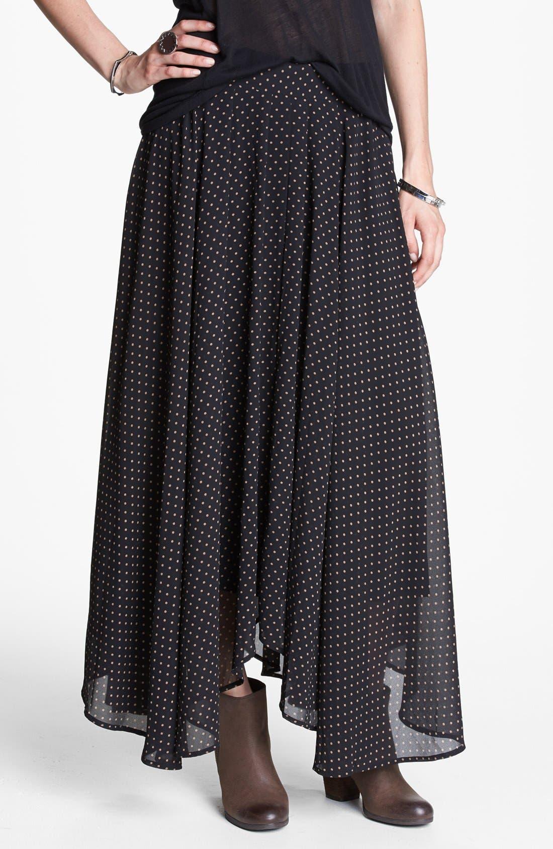 Main Image - Free People Polka Dot Maxi Skirt