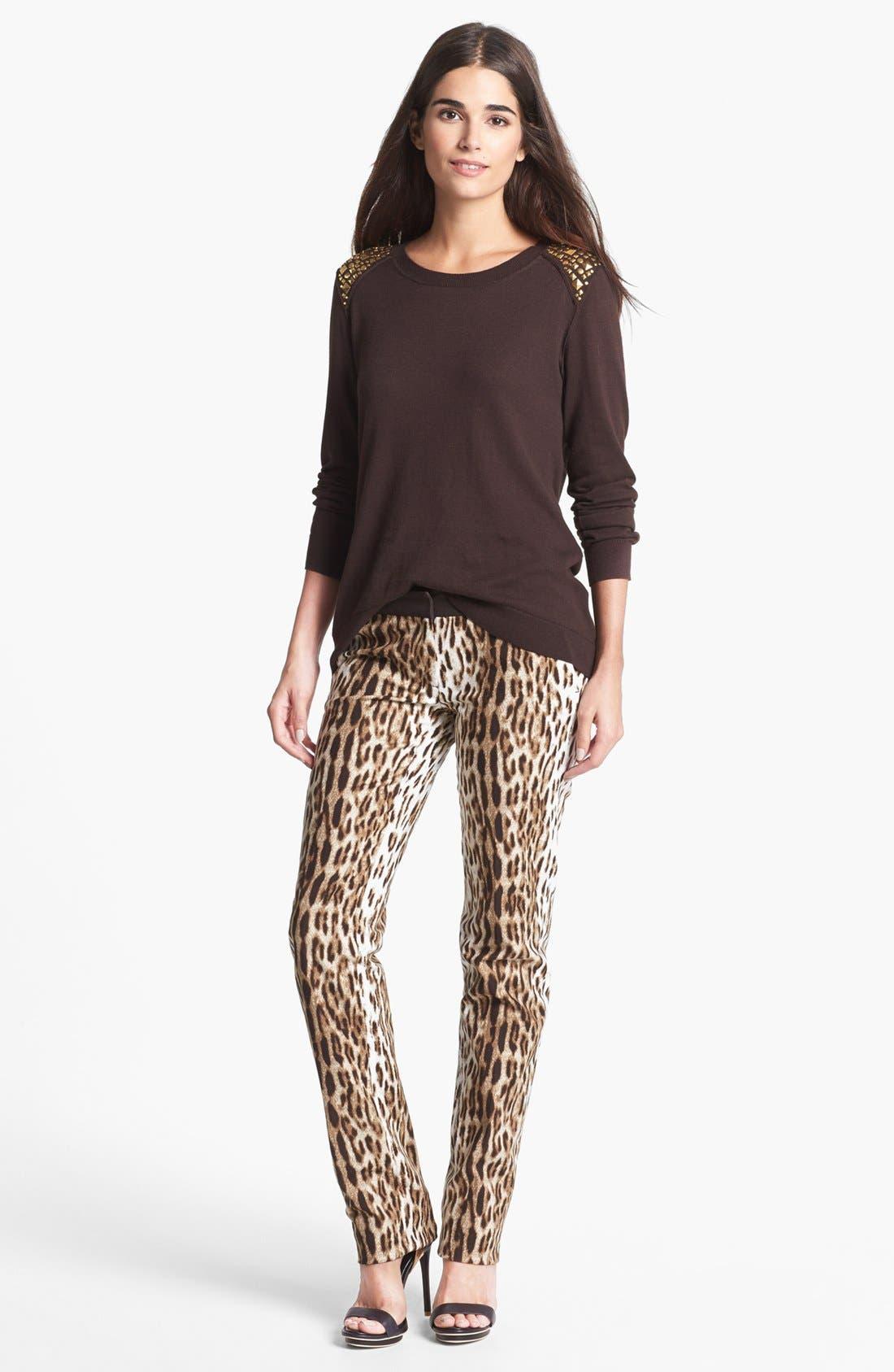 Alternate Image 4  - MICHAEL Michael Kors 'Sexy Skinny' Leopard Print Stretch Pants (Regular & Petite)