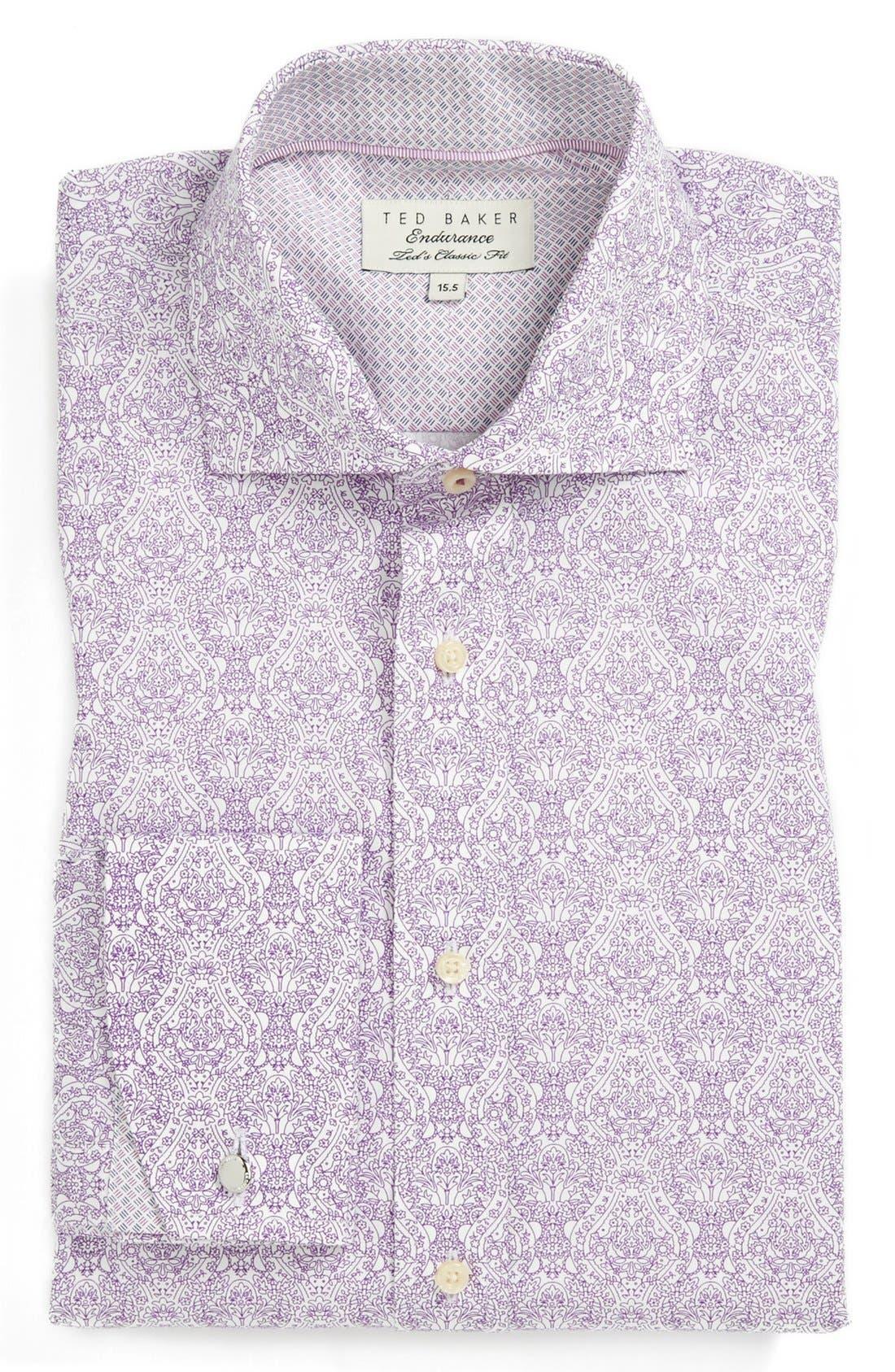 Alternate Image 1 Selected - Ted Baker London Extra Trim Fit Dress Shirt